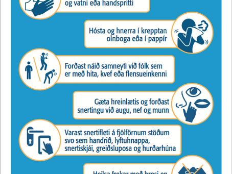 Leiðbeiningar vegna COVID-19