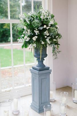 Urn Arrangement at Newby Hall Micro Wedding