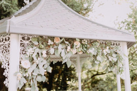 Crook Hall Outdoor Wedding Ceremony Flowers