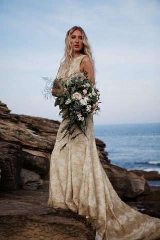 Rustic Trailing Bridal Boquuet