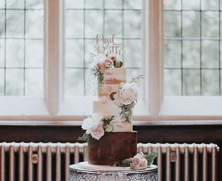 Semi Naked Wedding Cake at Jesmond Dene House Newcastle
