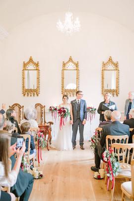 Eshott Hall Reading Room Wedding Ceremony Northumberland