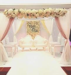 Mandap wedding flowers at Newcastle Asian wedding