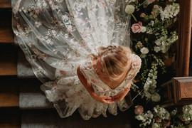 Bride at Ellingham Hall Northumberland