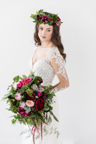 Bridal Flower Crown at Woodhill Hall