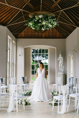 Newby Hall Orangery Micro Wedding Ceremony Yorkshire