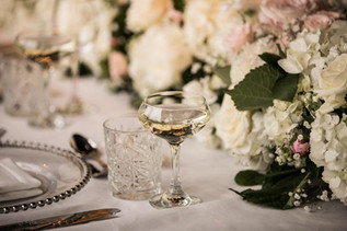 Luxe Long Top Table Flowers at Newton Hall