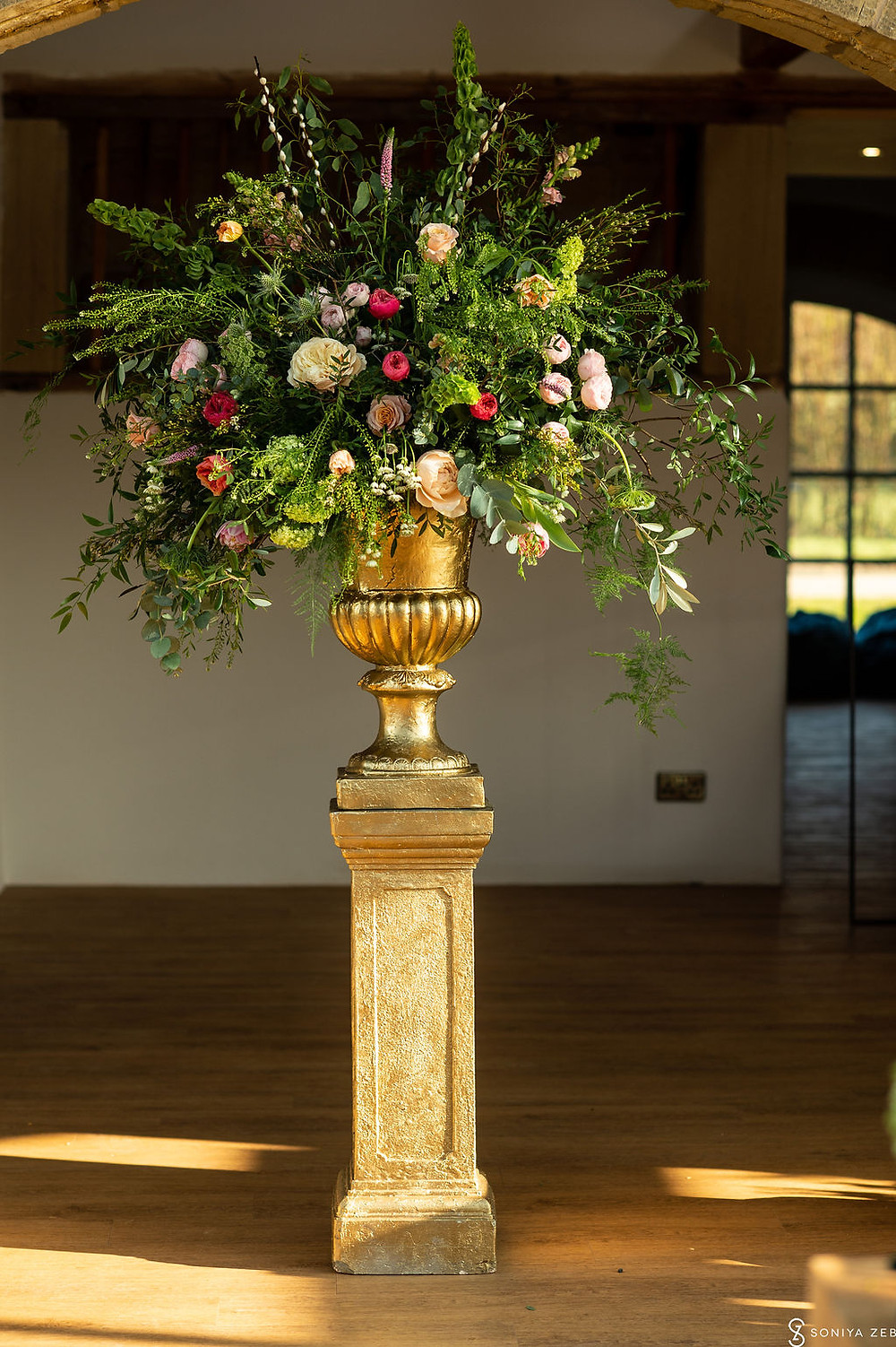 Large Urn Arrangement at Harewood House the hovels in yorkshiree