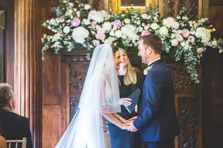 Ellingham Hall Wedding Flowers - Fireplace Flowers