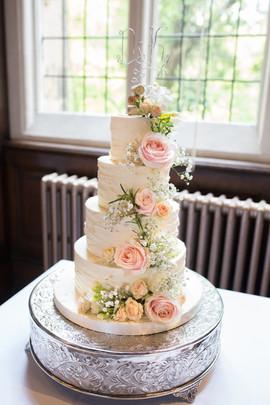 Buttercream Icing Wedding Cake at Jesmond Dene House Newcastle