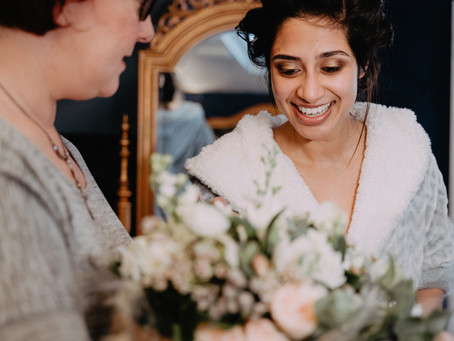 Destination Wedding in Northumberland. Anum & Jack at Woodhill Hall. Wedding Flowers Destination