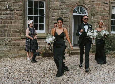 Charlton Hall Wedding Flowers - Rachael and Michael's Super Stylish Northumberland Wedding. Brid