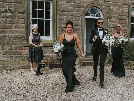 Charlton Hall Wedding Flowers - Rachael and Michael's Super Stylish Northumberland Wedding. Brid