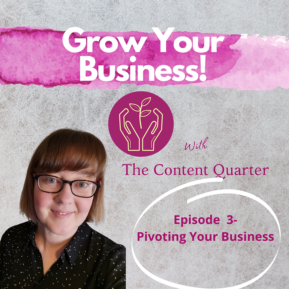 It's vital for small businesses to be able to pivot and think positive during times of negativity. It's what makes them a true entrepreneur. FOllow my podcast series, Grow Your Business, to hear advice and stories for small businesses