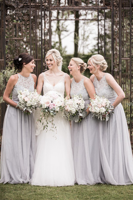 Bride and Bridesmaids at Newton Hall Northumberland