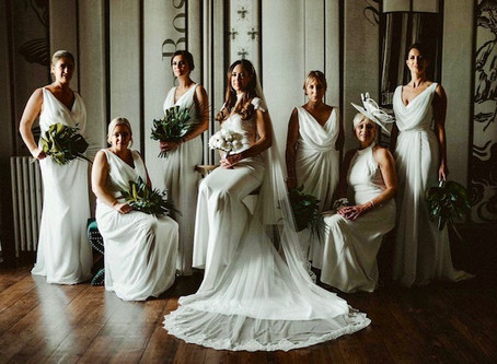 Stylish, Glamorous and Luxurious Wedding at Charlton Hall - Tropical leaves, gold stands, elegant dr