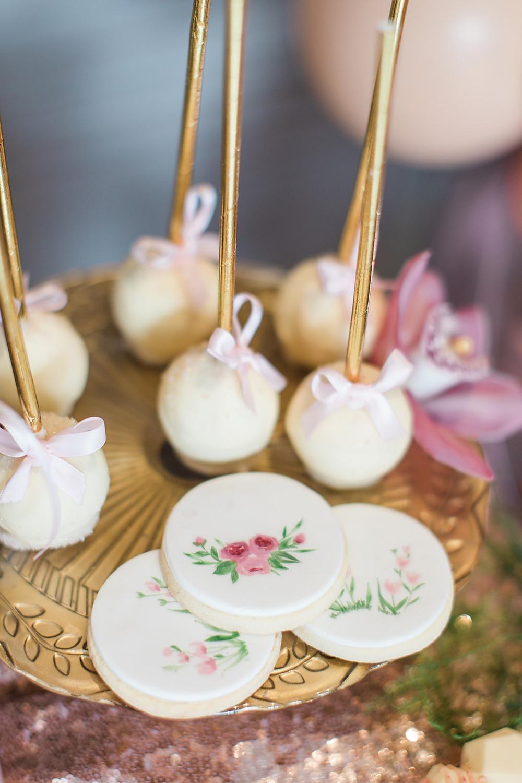 wedding flowers charlton hall florist balloons pink cake biscuits popcake