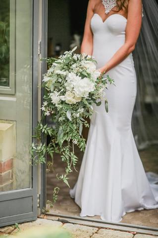 Trailing Bridal Bouquet at Jesmond Dene House