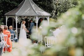 Crook Hall Outdoor Wedding Ceremony Durham