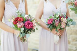 Autumnla Bridesmaid Bouquets at Woodhill Hall