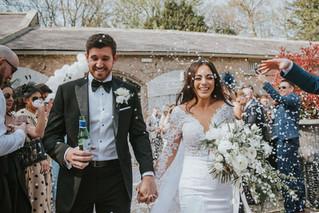 Bride and Groom at CHarlton Hall Northumberland