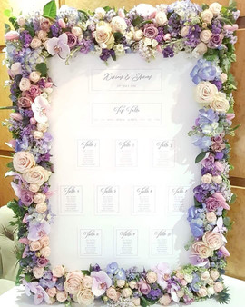 Floral TAble Plan at Vermont Hotel