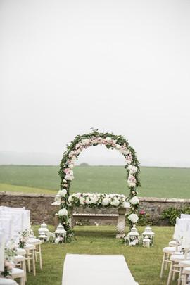 Newton Hall Outdoor Wedding Ceremony