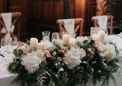 Top Table Flowers at Jesmond Dene House in Newcastle