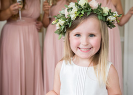 Flowergirl at Middleton Lodge in North Yorkshire