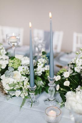 Blue and white Newby Hall orangery Wedding