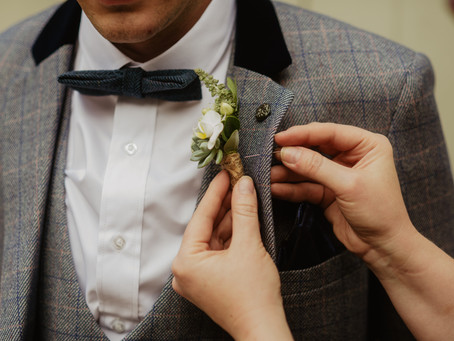 Boys & Their Buttonholes - Charlton Hall - Wedding Flowers
