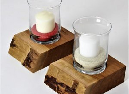 Live Edge Candle Holders