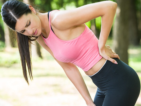 Back pain from gorging