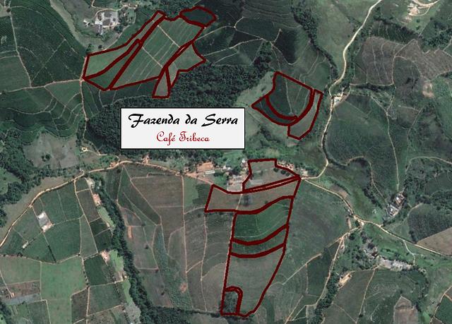 mapa localização fazenda da serra café especial tribeca