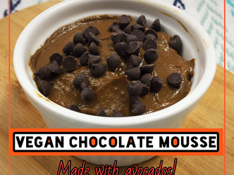Vegan Chocolate Mousse--Made with Avocados!