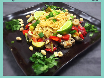 Vegan Pad Thai with Tofu Egg