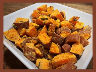 Roasted Sweet Potatoes with Tahini