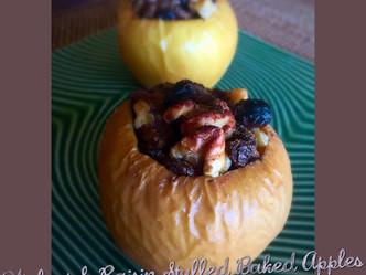 Walnut & Raisin Stuffed Baked Apples