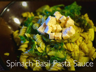 Spinach Basil Pasta Sauce