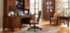 amish wooden office desk space and chair