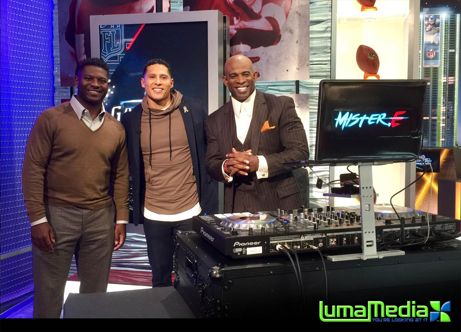 Ladainian Tomlinson, DJ MisterE & Deion Sanders