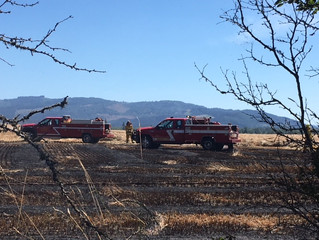 Grass Fire Sparked by Hay Operation