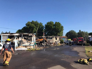 3-Alarm Fire Destroys 3 Mobile Homes Near Pleasant Hill