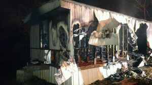 Mobile home in 55 and older community in Pleasant Hill destroyed by fire Tuesday night.