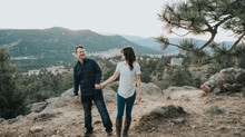 Mt. Falcon Engagement | Morrison, Colorado |                  Jade + Andrew