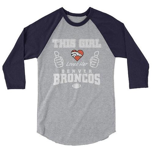 Ladies Broncos Raglan Shirt
