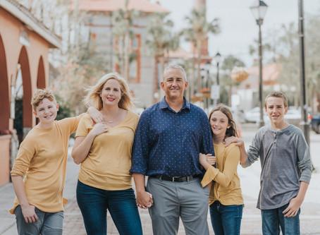 Jessica + Ryan Family Session | St. Augustine, Florida