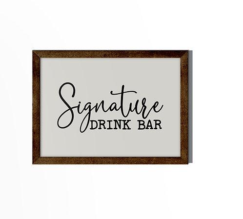 Signature Drink Bar Reverse Canvas