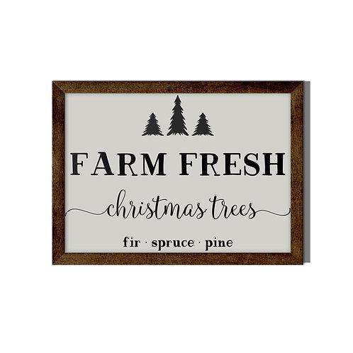 Farm Fresh Christmas Tree Reverse Canvas
