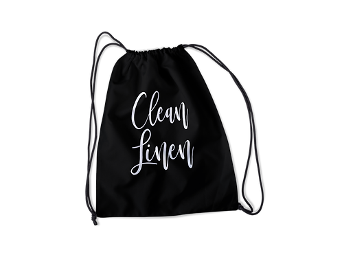 Clean Linen Drawstring Bag